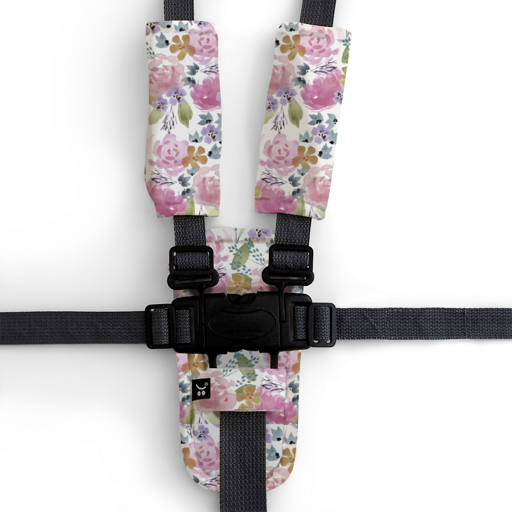 Artist Edition Watercolour Collection Harness Cover Set - Floral Delight - Outlook Baby