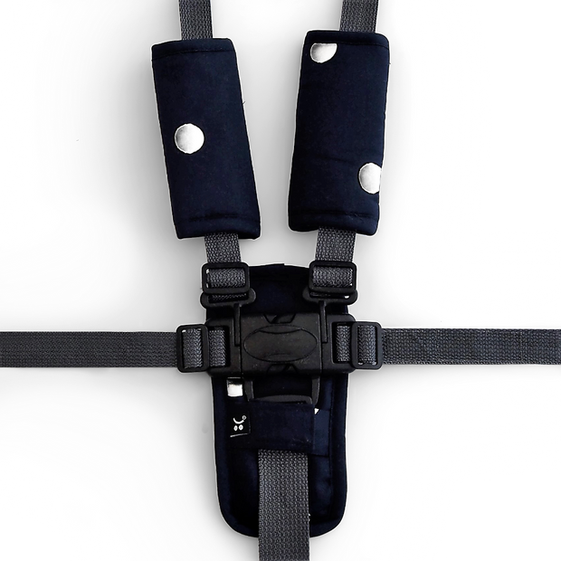 3 Piece Harness Cover Set - Black/Silver Spots - Outlook Baby