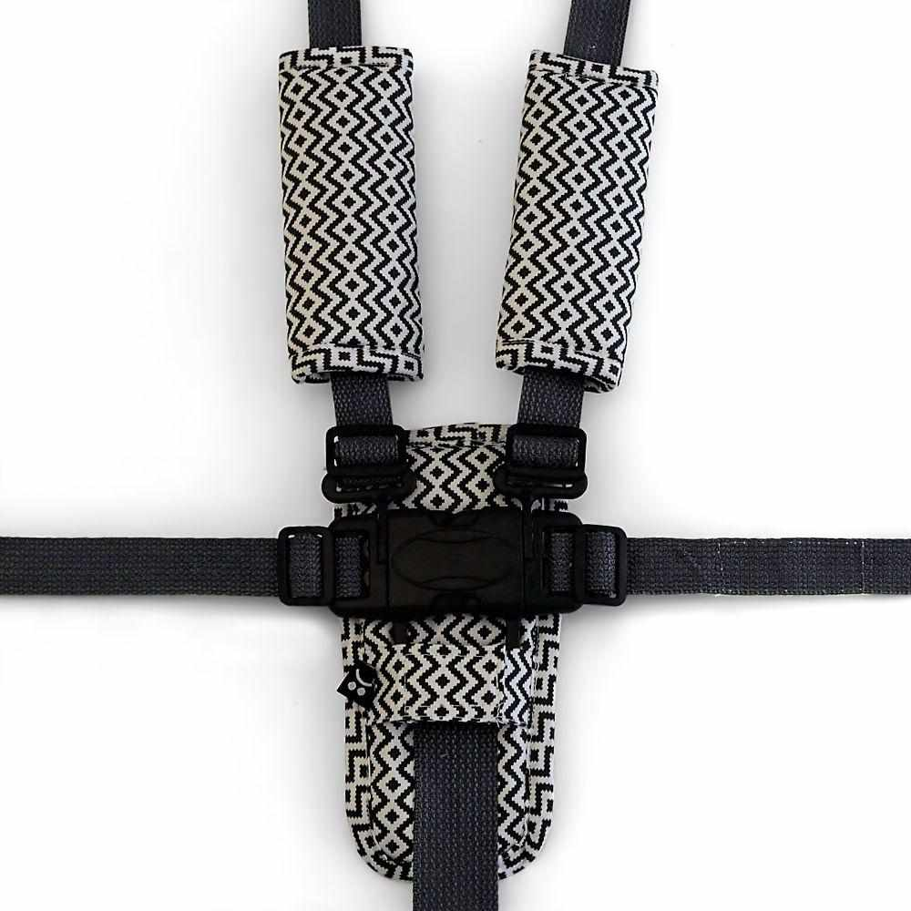 Harness Cover Set - Charcoal Aztec
