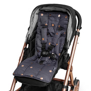 3 Piece Harness Cover Set - Charcoal/Rose Gold Spots - Outlook Baby