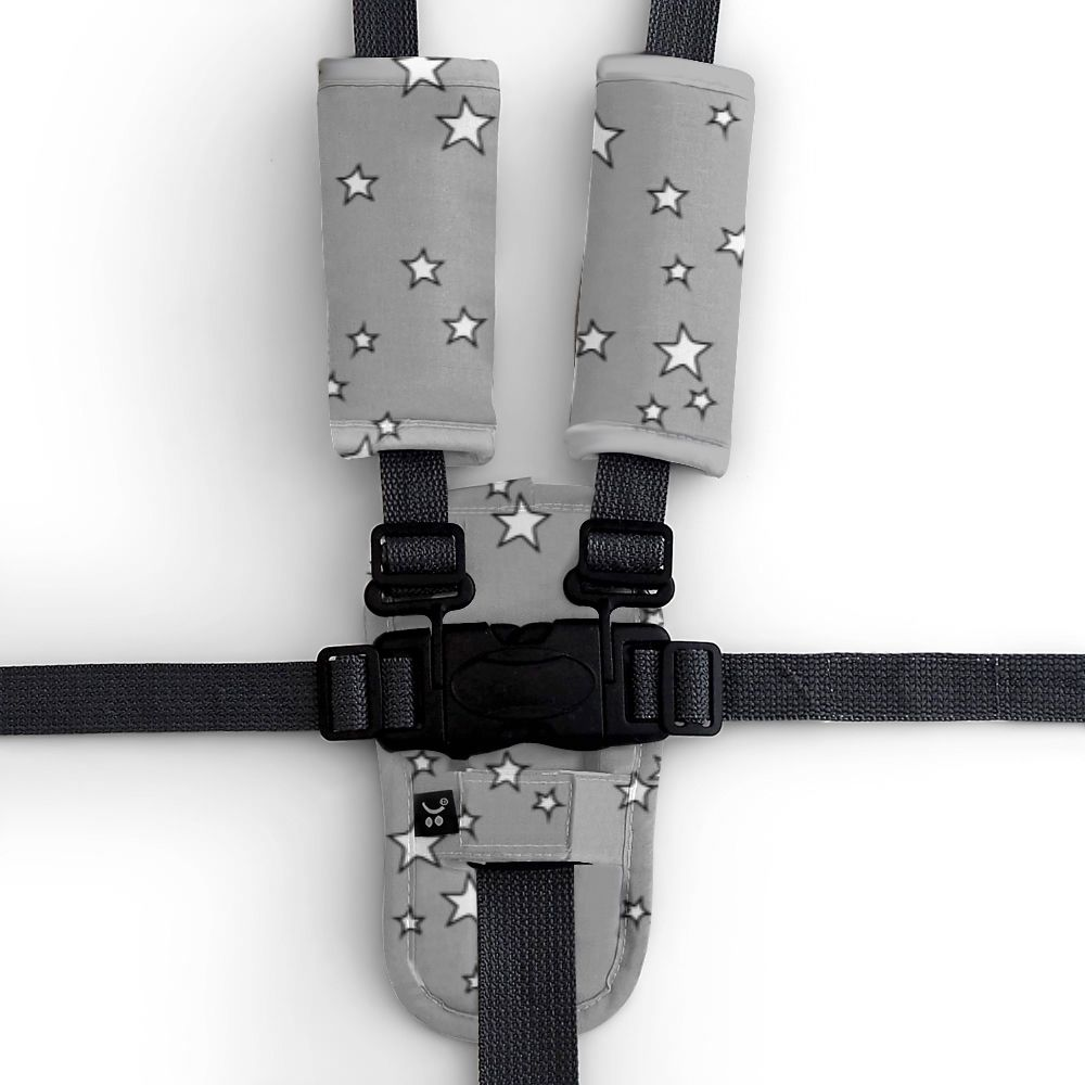 Harness Cover Set - Grey Stars