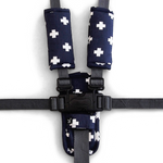 Harness Cover Set - Navy Crosses