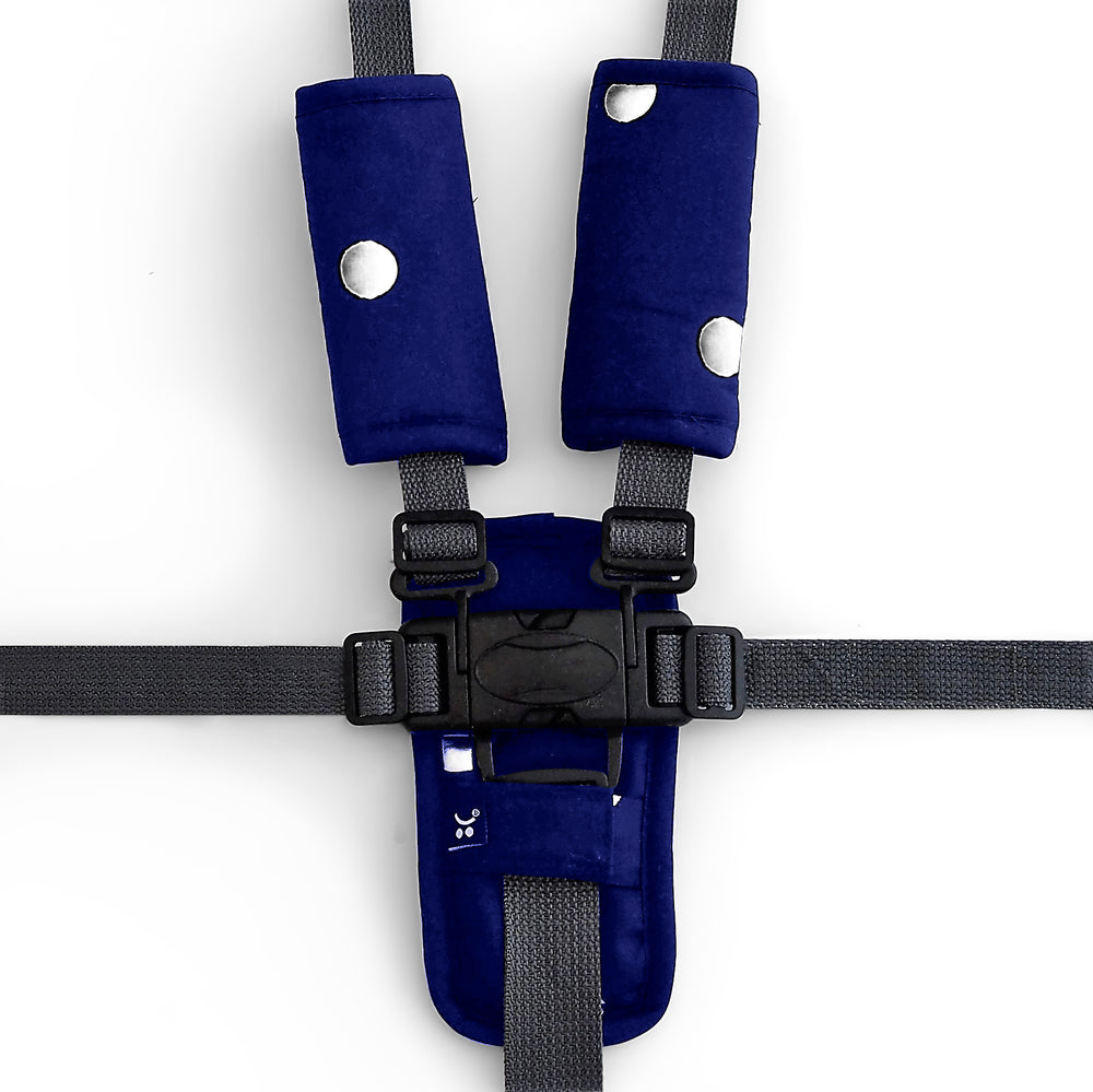 Foil Print Harness Cover Set - Navy/Silver Spots