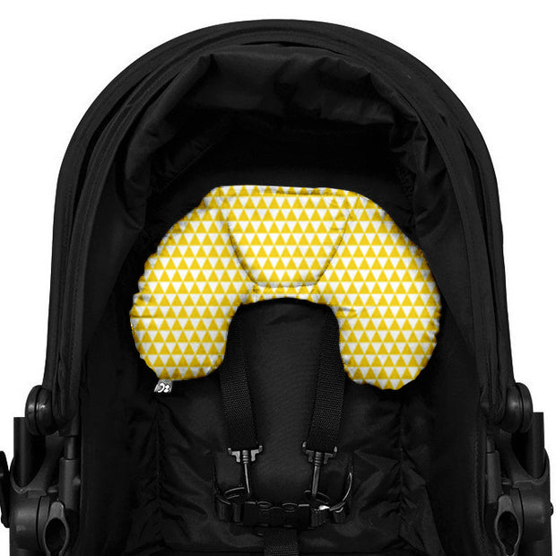 5 Piece Pram Accessories Set - Yellow Triangle - Outlook Baby