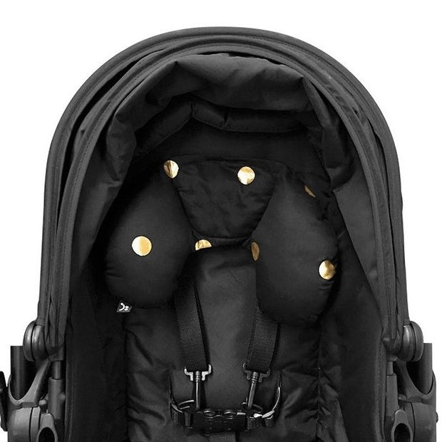 Head Hugger Neck Support - Black/Gold Spots - Outlook Baby