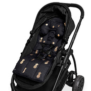 Foil Print Head Hugger - Black/Gold Spots - Outlook Baby