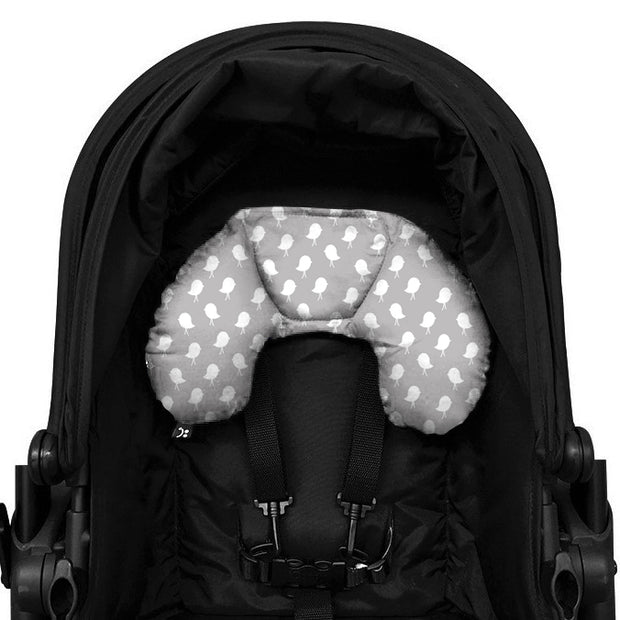 Head Hugger Neck Support - Grey Birds - Outlook Baby