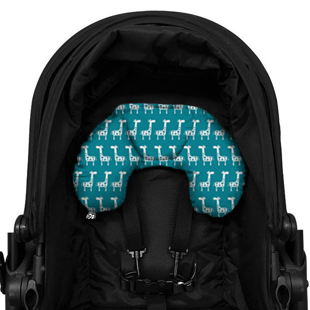 Head Hugger Neck Support - Teal Giraffe - Outlook Baby