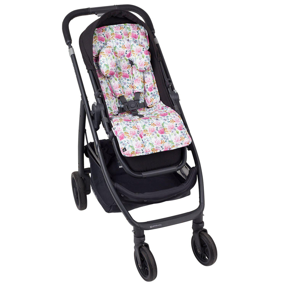 Artist Edition Watercolour Complete Pram Liner & Accessories Set - Floral Delight - Outlook Baby