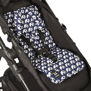 Mini Liner with Head Support - Navy Elephants-Mini liner with head support-Outlook Baby