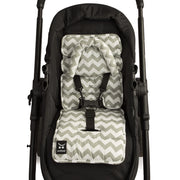 Mini Liner with Head Support - Grey Chevron-Mini liner with head support-Outlook Baby