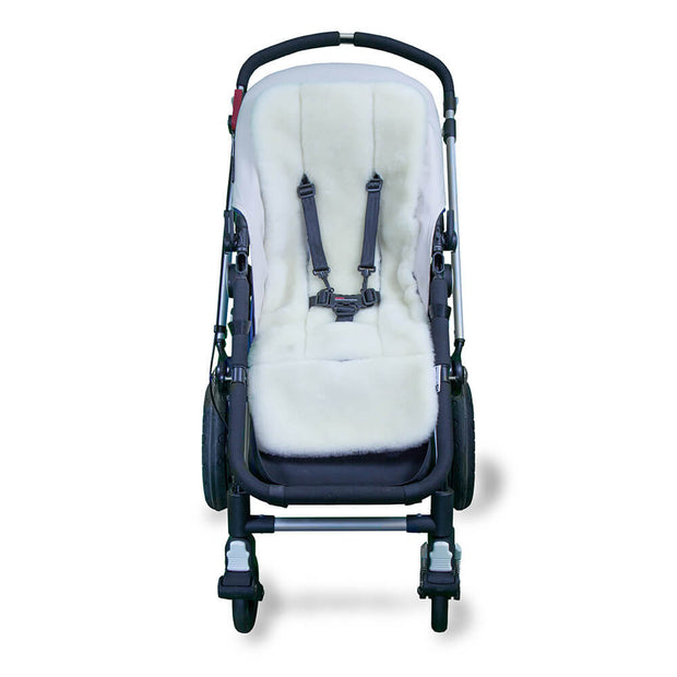 Stay-Put Pram Quilt/Footmuff & Wool Liner Bundle - Light Grey