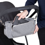 Outlookbaby Pram Caddy – Grey Melange-Pram Caddy-Outlook Baby