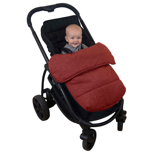 Universal Stay-Put Pram Quilt/Footmuff - Rust