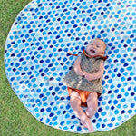 Baby Play Mat w Waterproof/Non-Slip Backing - Indigo Rain