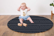 Baby Play Mat Quilted (Waterproof Backing) - Mudcloth