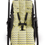 Pram Liner -Yellow Charcoal Chevron - Outlook Baby