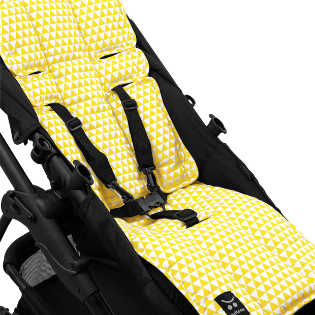 Pram Liner -Yellow Triangle - Outlook Baby