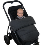 Stay Put Jersey Cotton Pram Quilt - Charcoal Grey