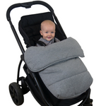 Stay Put Jersey Cotton Pram Quilt - Grey Marle