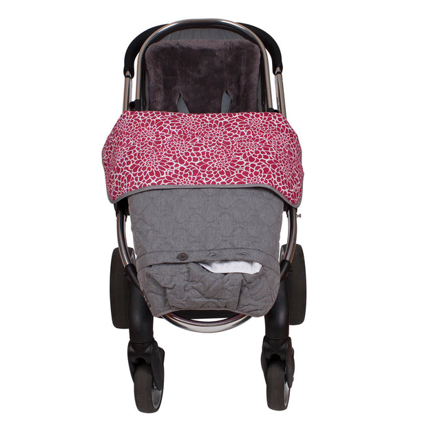 Pram Quilt/ Footmuff - Rose Lace