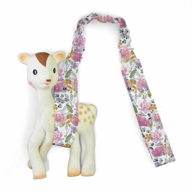Artist Edition Watercolour Collection Toy Strap - Floral Delight - Outlook Baby