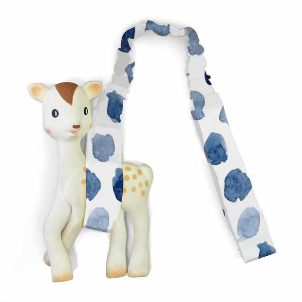Artist Edition Watercolour Collection Toy Strap - Indigo Rain - Outlook Baby