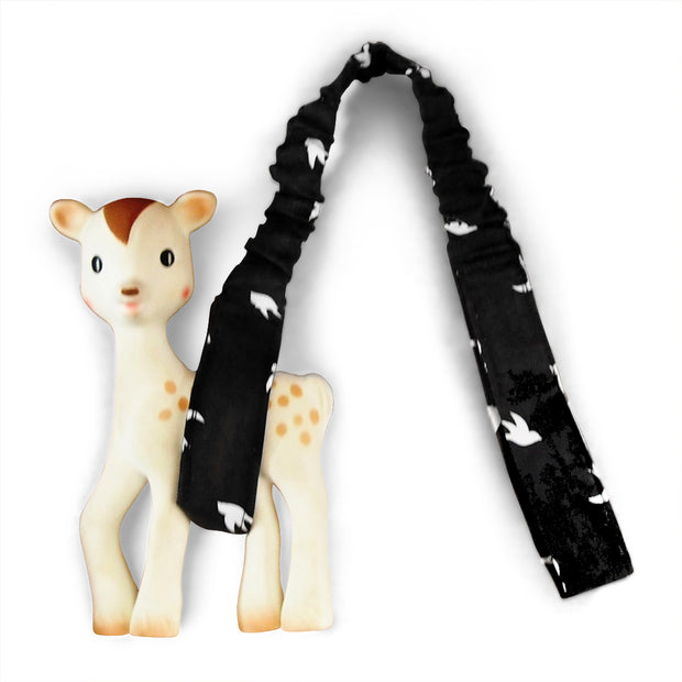 Toy Strap - Black Swallows - Outlook Baby