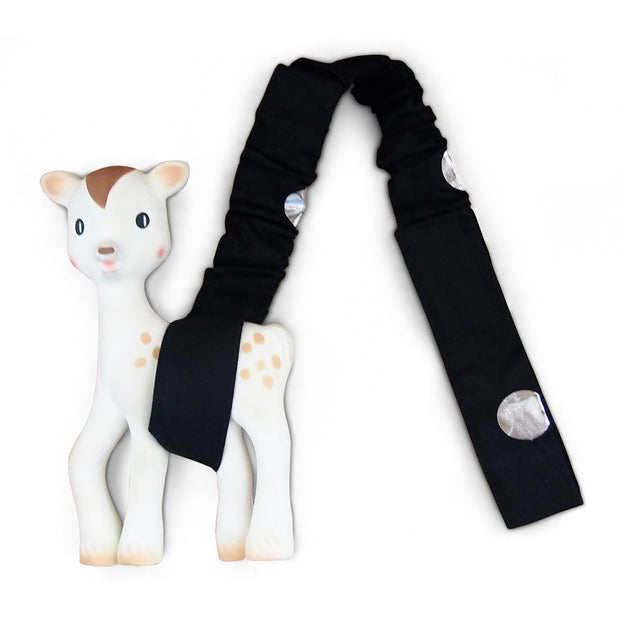 Toy Strap - Black/Silver Spots - Outlook Baby
