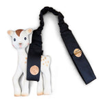 Foil Print Toy Strap - Charcoal/Rose Gold Spots - Outlook Baby