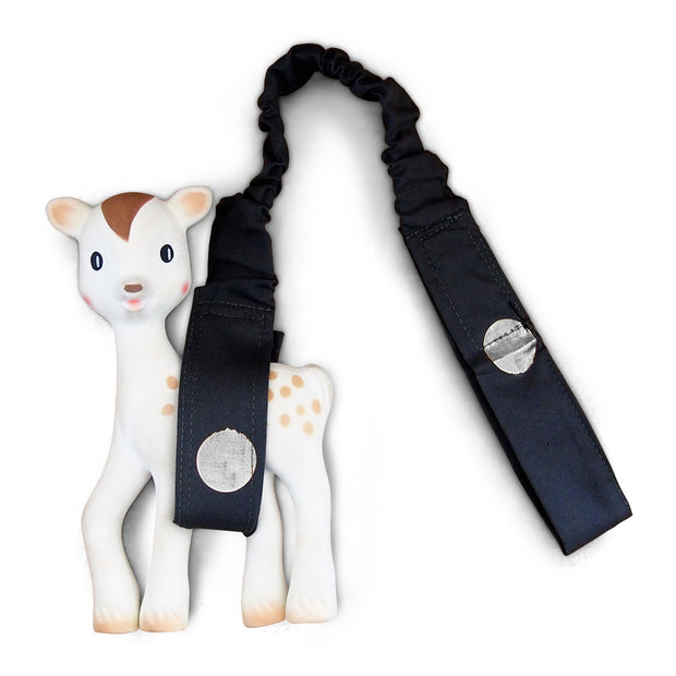 Foil Print Toy Strap - Charcoal/Silver Spots - Outlook Baby