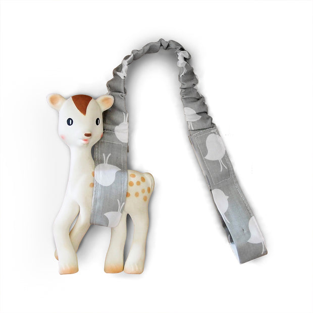 Toy Strap - Grey Birds - Outlook Baby