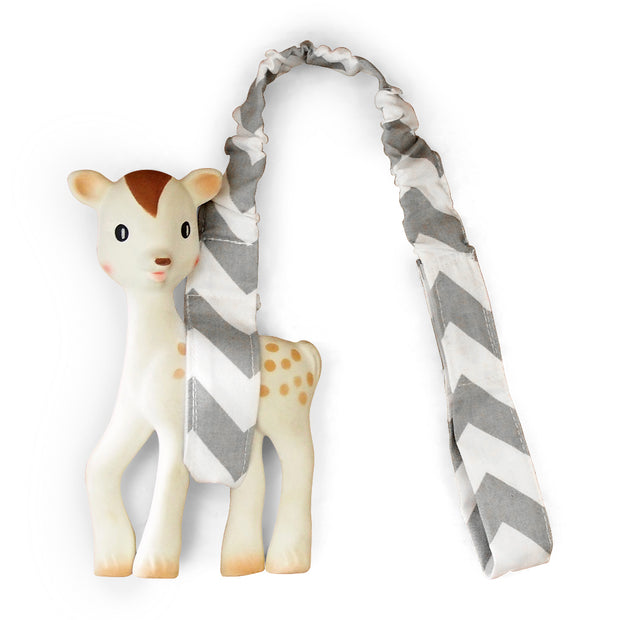 Toy Strap - Grey Chevron-Toy Strap-Outlook Baby