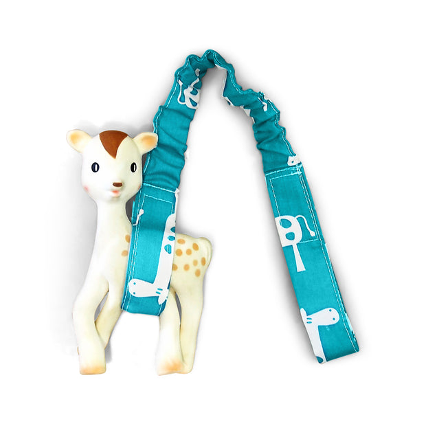 Toy Strap - Teal Giraffe - Outlook Baby