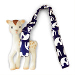 Toy Strap - Navy Elephants - Outlook Baby
