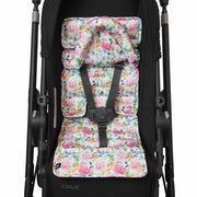 Mini Pram Liner w Head Support - Floral Delight