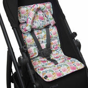 Mini Pram Liner w Head Support - Floral Delight-Mini liner with head support-Outlook Baby