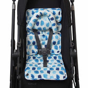 Pram Liner with built in head support - Indigo Rain - Outlook Baby