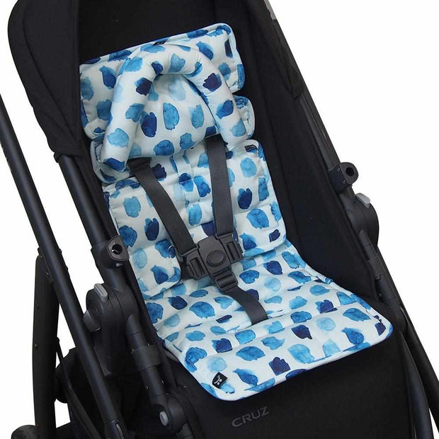 Mini Pram Liner w Head Support - Indigo Rain-Mini liner with head support-Outlook Baby
