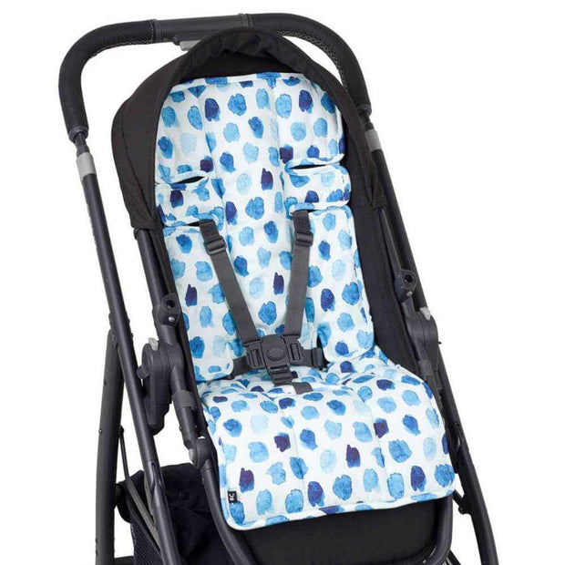 Artist Edition Watercolour Pram Liner - Indigo Rain-Pram Liner-Outlook Baby