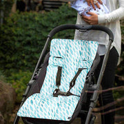 Artist Edition Watercolour Pram Liner - Teal Drops-Pram Liner-Outlook Baby