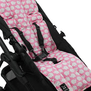 Cotton Pram Liner - Pink Elephants - Outlook Baby