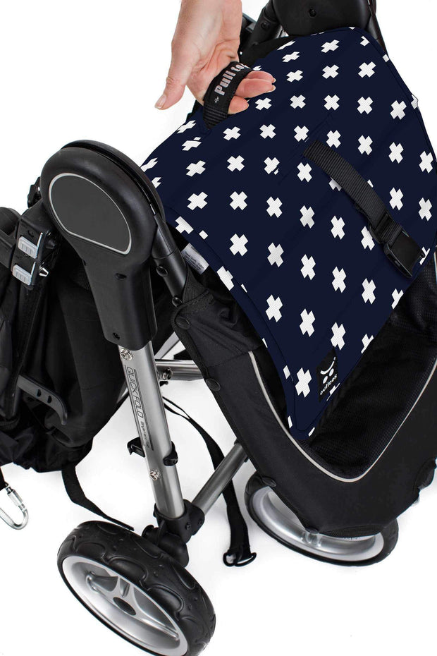 Pram Liner - Navy Crosses - Outlook Baby