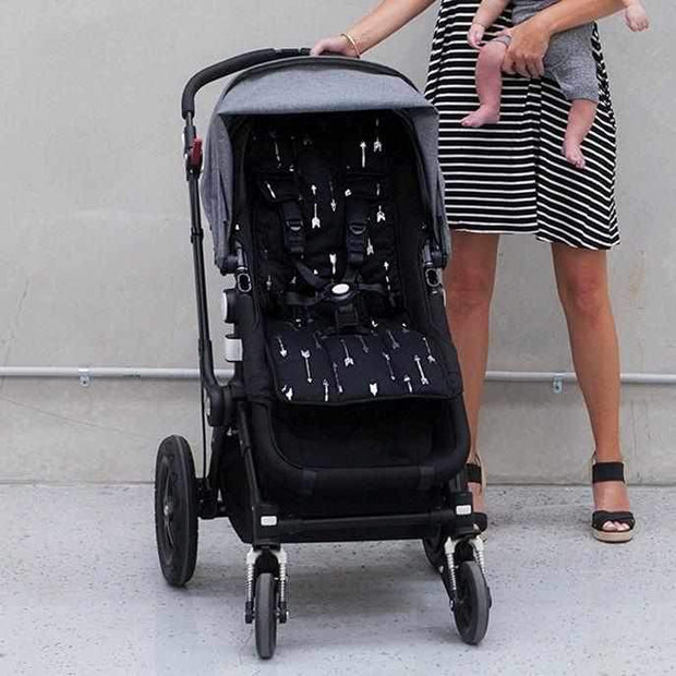 Pram Liner - Black Silver Arrows/Spots - Outlook Baby