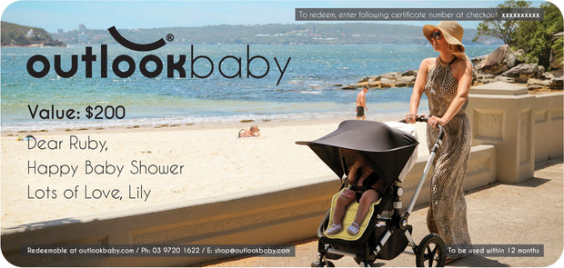 Gift Card - Physical Card - Outlook Baby