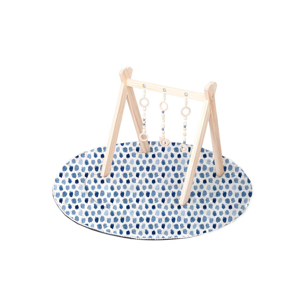 Artist Edition Watercolour Collection Play Mat w Waterproof/Non-Slip Backing - Indigo Rain - Outlook Baby