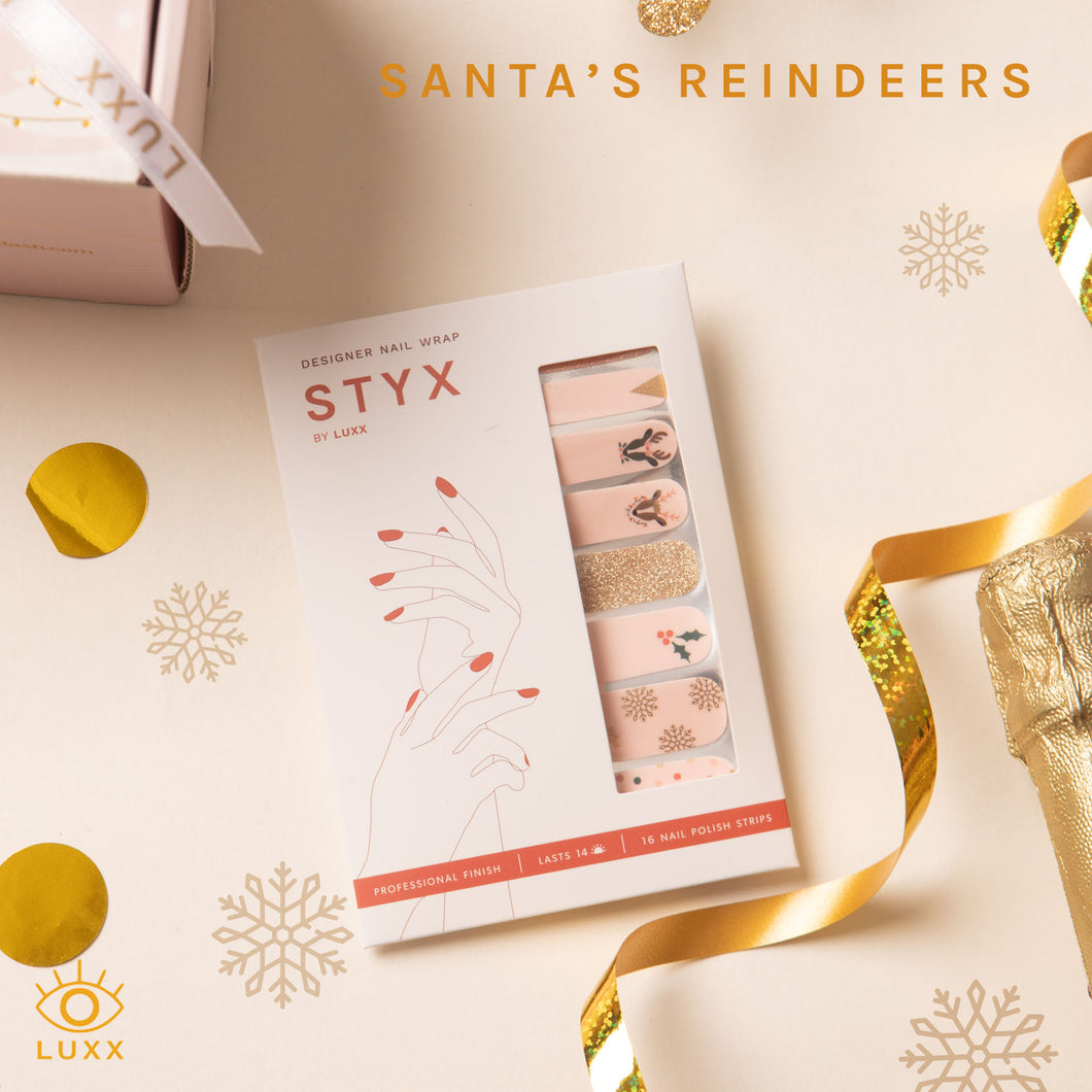 Santa's Reindeer Kids STYX Nail Wraps (Holiday Limited Edition)