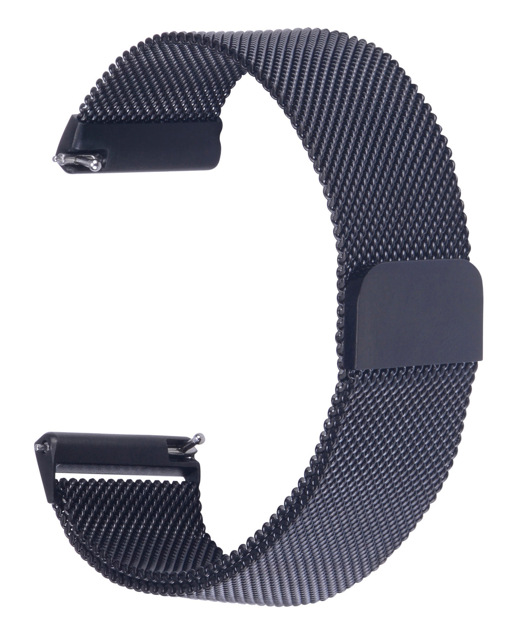 Fitbit Versa Bands Stainless Steel Metal Magnetic Milanese Loop-Black
