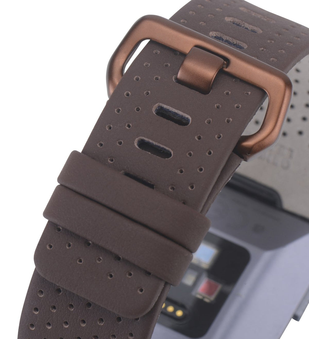 Fitbit Ionic Bands Perforated Leather Cognac