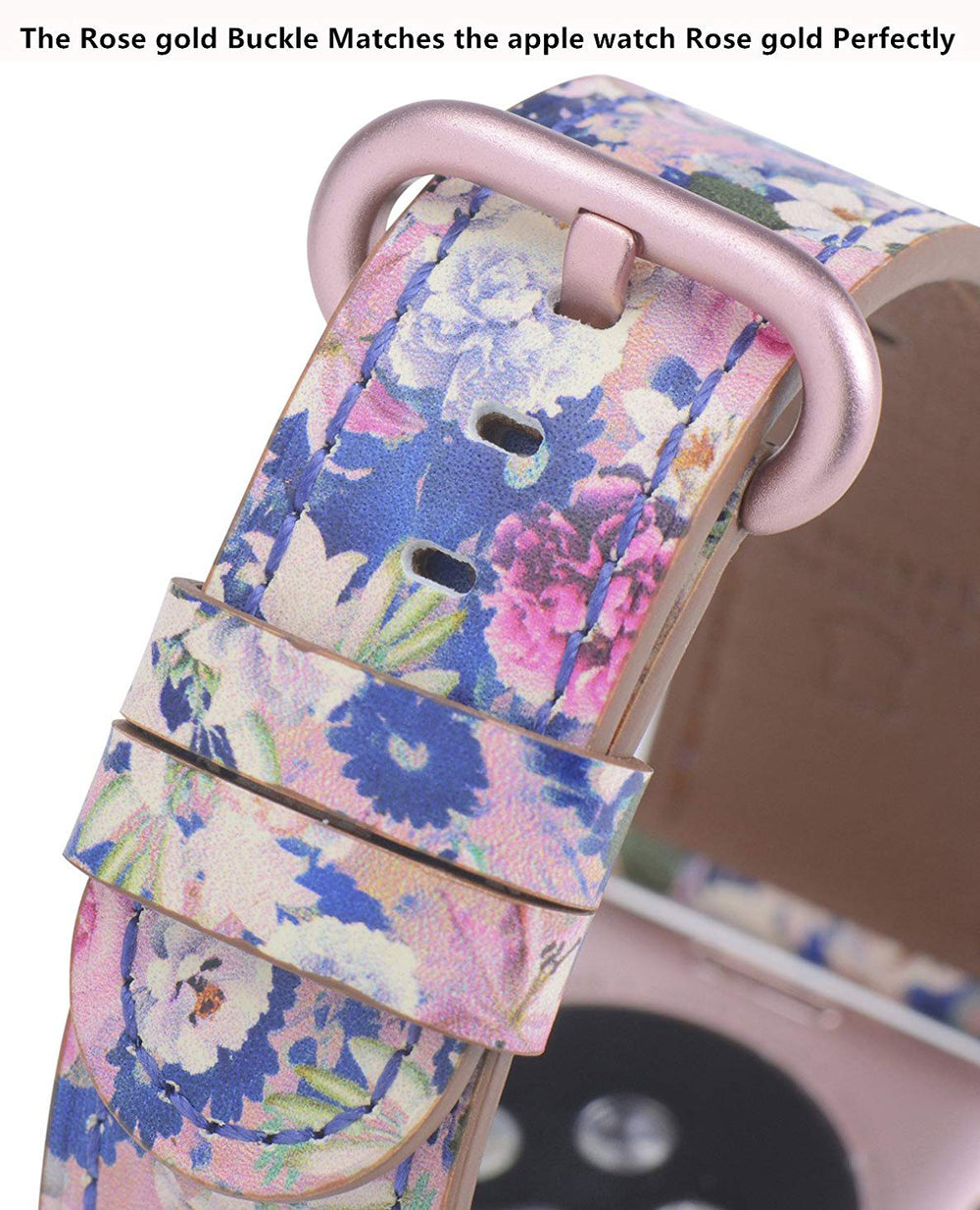 Apple watch band 38mm 40mm Blue/Pink Flowers